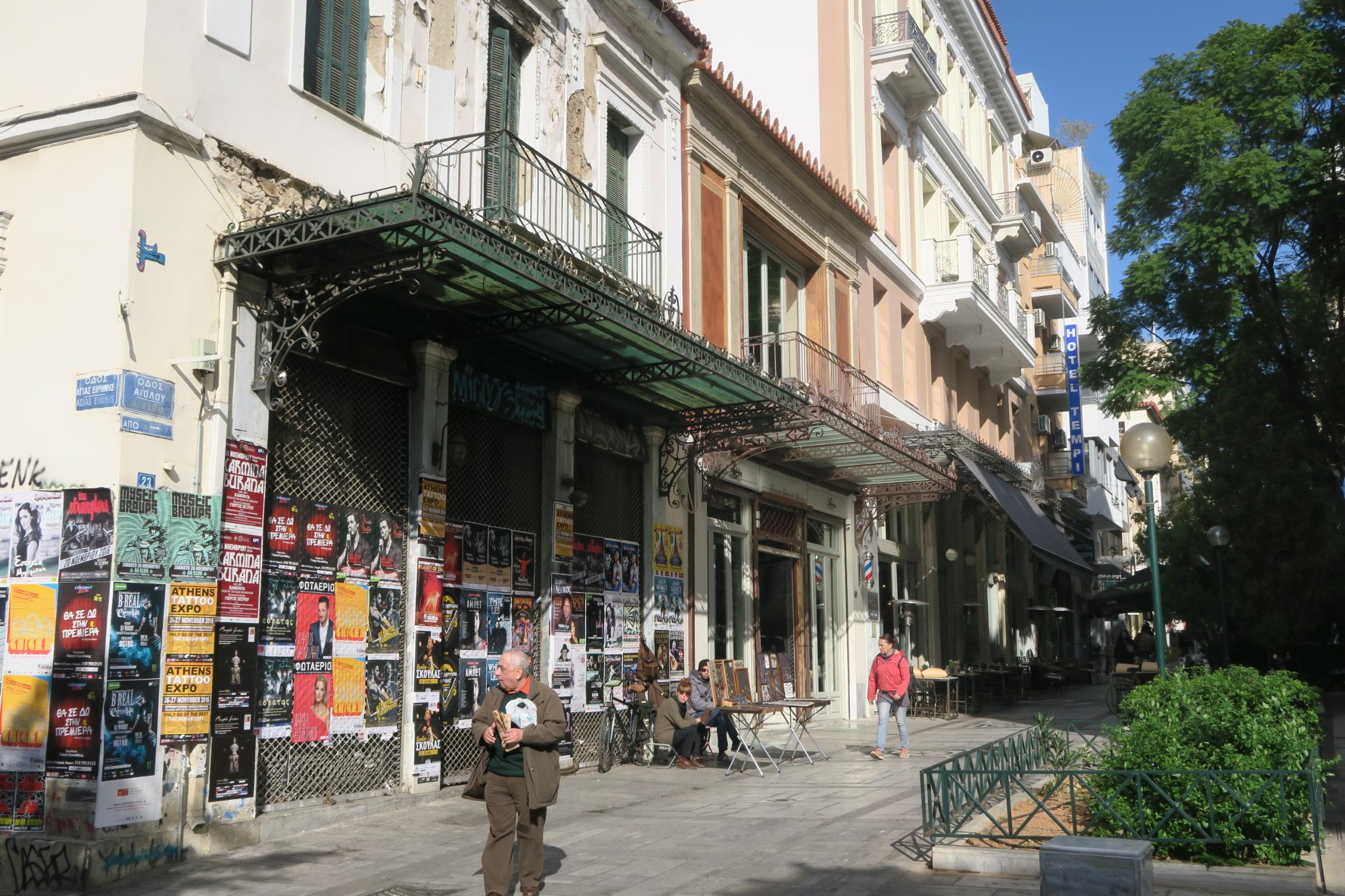 En af de mange mange skønne stemninger fra Athen. I denne gade ligger vores ynglings restaurant