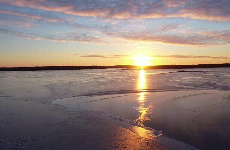 Februar med is på fjorden
